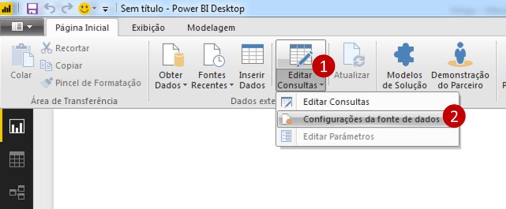 Como alterar a fonte de dados no Power BI-1