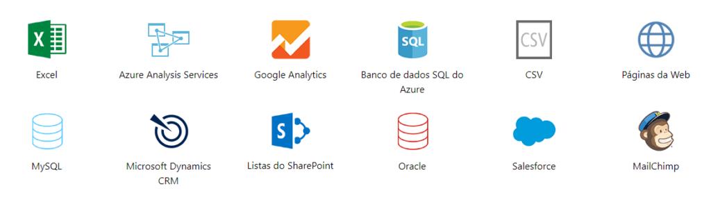 fontes de dados power bi