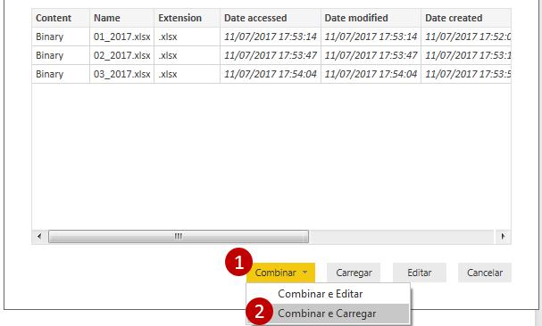 Importar arquivos de uma pasta no Power BI Desktop-3