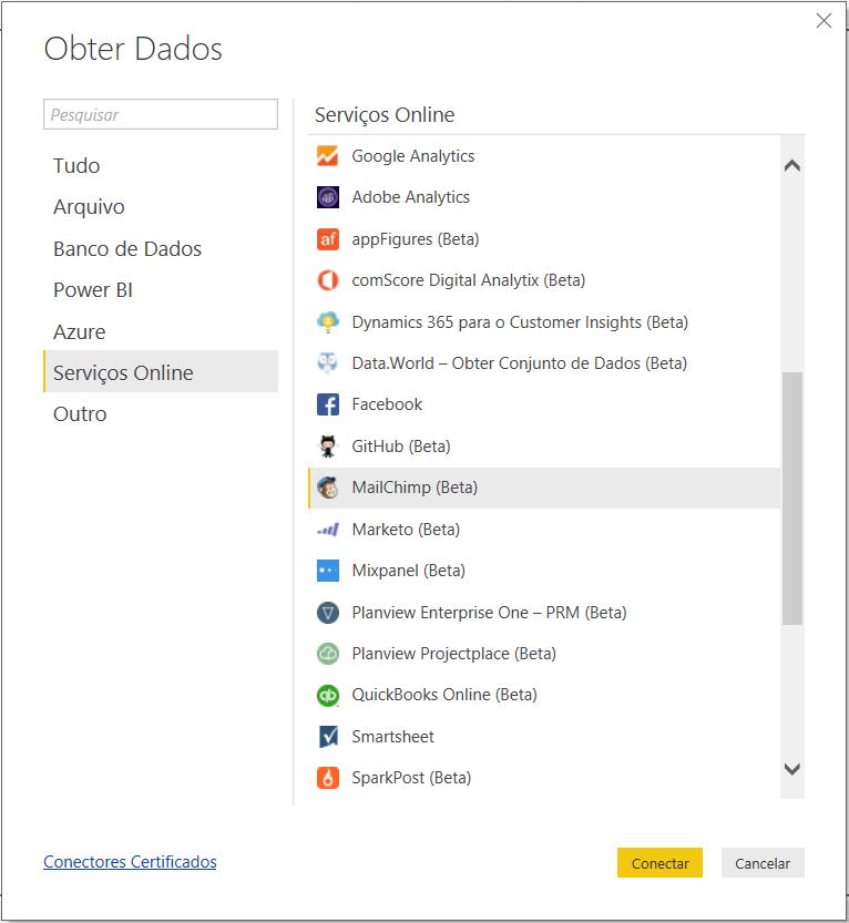 Obter Dados Mailchimp API no Power BI