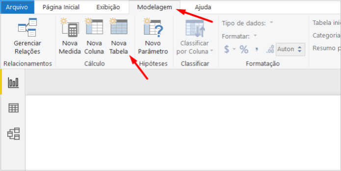 Tabela calculada no Power BI