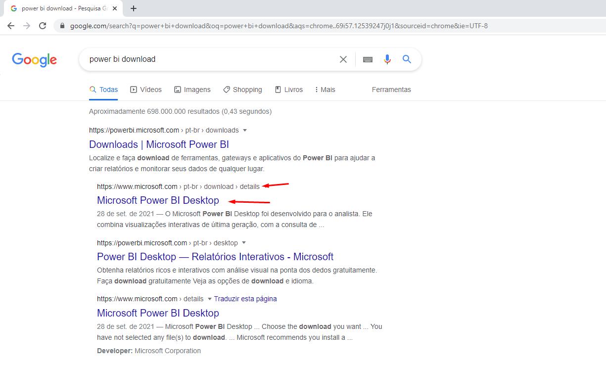link correto no google para download